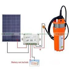 100W Solar Panel + 12V Deep Well Water Pump & Controller for Store Water System
