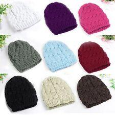 Young Women Ladies Lovely Knitted Baggy Hat Crochet Braided Skull Cap Ski Beanie