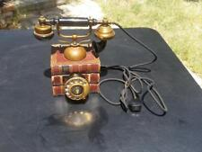 Vintage Rotary Dial Telephone 4 Prong Cloth Covered Cord Bacon Essays Books