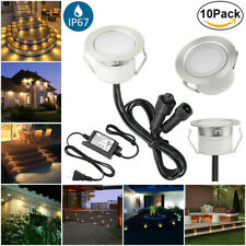 10X 45mm 12V Waterproof Warm White Outdoor LED Deck Path Soffit Step Stair Light