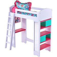 My Life As 6-Piece Light Sound Loft Bed Play Set With Reversible Bedding New
