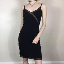 Kookai Midi Slip Dress XS 6-8 Mesh Ghost Sexy Calvin Klein Evening Cami 00s y2k