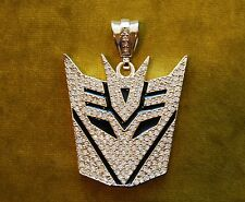 Iced out Transformer Deception pendant hip hop bling rhinestones new gold toned