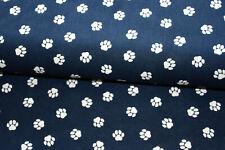 11,90€//m Wellness Fleece schwarz weiß Pfoten kuschelig weich150 cm breit
