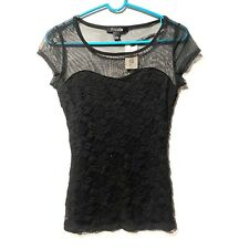forever 21 womens juniors black short sleeve top size small s