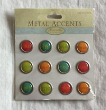 NEW Marcella by K&Company All Occasion Super Bright Tiny Round Metal Words