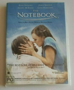 The Notebook Ryan Gosling  PAL DVD R4 VGC