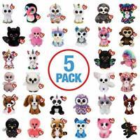TY Beanie Boo Boos - Plush Soft Toy - Random 5 Pack (No Duplicates)