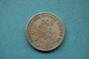 BRAZIL - TWO HUNDRED  (200) REIS BRAZILIAN COIN - DATE MCMI
