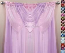 PINK & LILAC 6 PIECE SWAG & VOILE PANEL CURTAIN SET ~ Many Sizes Available