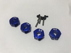 Aluminum 12mm Hex Adapters for Arrma Fury Vorteks Granite Raider Blue