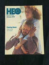 1979 JANUARY *COMING HOME-FONDA/VOIGHT* HBO HOME BOX OFFICE GUIDE BOOKLET (AS)