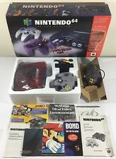 Nintendo 64 Console Atomic Purple Console in Box System N64 Complete Ex++