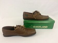 Vintage Eastland Leather Loafers Women's 9.5 N Shoes Brown Oxfords With Box
