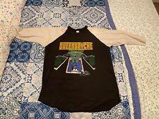 VTG Queensryche The Warning 1984 Tour 3/4 Sleeve XL Raglan Shirt Metal Rock