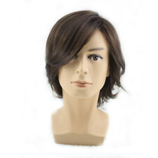 Fashion Men Short Wig Slight Curly Male Hair Cosplay Party Halloween Full Wigs