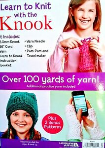 NEW Learn to Knit with Knook Kit Yarn & Instructions SUPER EASY 8+ Years CUTE