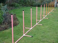 Dog Agility Fixed Base 12 Pole Weave by Jessejump Agility