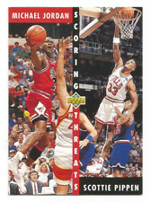 1992-93 Upper Deck #62 Michael Jordan / Scottie Pippen Chicago Bulls