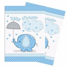 BLUE UMBRELLAPHANTS - Invitations & Envelopes [8] Baby Shower Boy Party Supplies