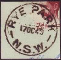 """NSW POSTMARK """"RYE PARK"""" DATED 17/10/1949 (A11094)"""