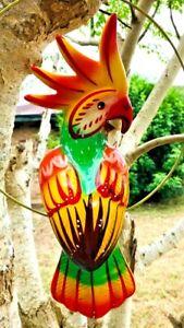 Talavera Bird Handmade & Painted Ceramic Mexican Pottery Hanging Patio Decor #4