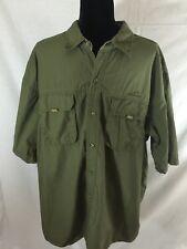 Eddie Bauer Short Sleeve Shirt Mens Green Xxl 2 Pocket
