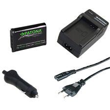 Batteria Patona Premium + caricabatteria casa/auto per Sony FDR-X3000,HDR-AS10
