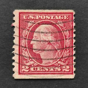 Scott # 491 -Type ll , Rotary Press, 2cent Carmine, No Wmk. (1916) - Used