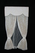 DOLLHOUSE MINIATURE BIEGE CURTAIN / DRAPERY