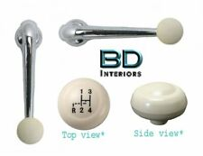Window Crank & Shift Knob Set 1961 - 1966 VW Volkswagen Bug Beetle  - Ivory