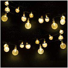 LED Solar Kugel Lichterkette Garten Außen Outdoor Beleuchtung Lampe Warmweiß DE