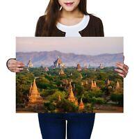 A2 - Temples Bagan Myanmar Burma Poster 59.4X42cm280gsm #3529