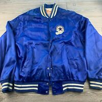 *Vintage  Dallas Cowboys Satin Jacket Blue XL Football Active Generation 70s 80s