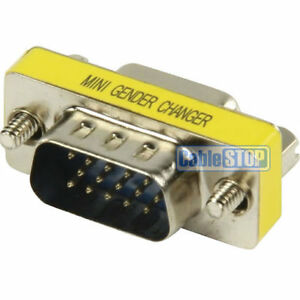 HD15-M 15 Pin Gender Changer MALE to MALE Converter Monitor Cable Adaptor