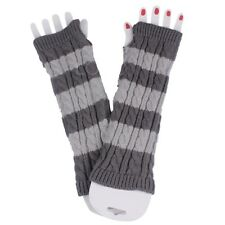 Fashion Lady Girl Fingerless Warm Winter Mitten Crochet Long Sleeve Gloves Arm