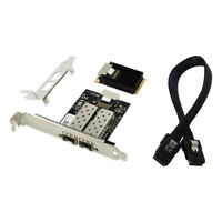 MINI Pci-e to Dual port Gigabit Ethernet Server SFP fiber network card 1000M
