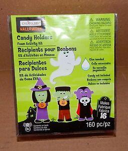 Halloween Candy Holders Foam Activity Kit 160pc Creatology 4+ Makes 16 Items 36S