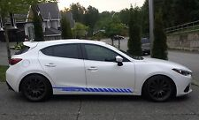 Racing Graphic Stripe Car Side Vinyl Decal Sticker for Mazda 3 2010 - 2018