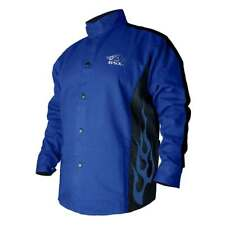 Black Stallion BXRB9C BSX Contoured FR Cotton Welding Jacket Royal Blue Large