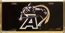 Aluminum Military License Plate West Point Black Knight
