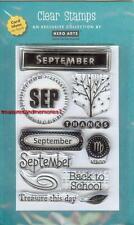 HERO ARTS Clear Stamp MONTH SEPTEMBER Back School Virgo