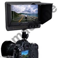 """Lilliput 7"""" 665GL-70NP/H/Y HDMI On Camera Monitor+LP-E6 Adapter HDMI input"""