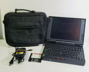 Vintage IBM ThinkPad 365XD 2625 Pentium Laptop With Charger Please Read Cond.