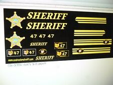 Coshocton County Ohio Sheriff Vehicle Decals  24 scale