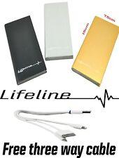 External Battery Powerbank Mobile Portable Charger 10000 mAh Micro USB Lifeline