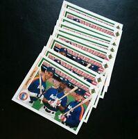 1991 UPPER DECK #702 JEFF BAGWELL ROOKIE CARD HOUSTON ASTROS HOF LOT OF 9 MINT