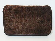 Italian Leather Chocolate Brown Sherpa Purse Patricia Nash