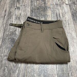 Prana Stretch Zion Belted Pants Men's Size 36x30 Mud