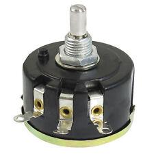 WX050 10K ohm 5W 6mm Round Shaft Rotary Wire Wound Potentiometer Black+Silver LW